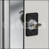 Cerraduras para paneles en equipamiento industrial de perfiles de aluminio