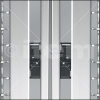 Suspensores para marcos de perfiles de aluminio