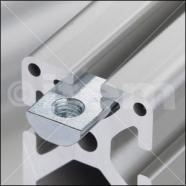 Tuercas para perfiles de aluminio del sistema de construcción modular MB