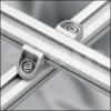 uniones de perfiles de aluminio cruzados