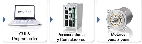 Sistemas de posicionado industrial Phytron, Posicionadores y controladores para motores paso a paso