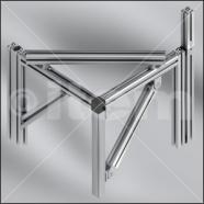 Varias uniones de perfiles de aluminio